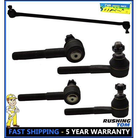 1990 Dodge B250 Exhaust (5 Pc Complete Suspension Kit Drag Link Tie Rod Ends For Dodge B100 B250 B350)