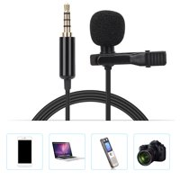 EOTVIA Portable Microphone,Microphone,1.5M 3.5mm Portable Metal Lavalier Collar Clip-on Microphone for Mobile Phone Recording