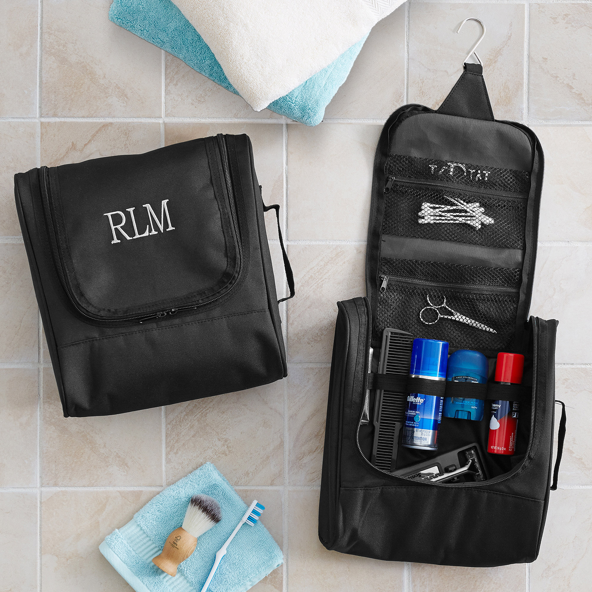 Personalized Hanging Toiletry Travel Bag