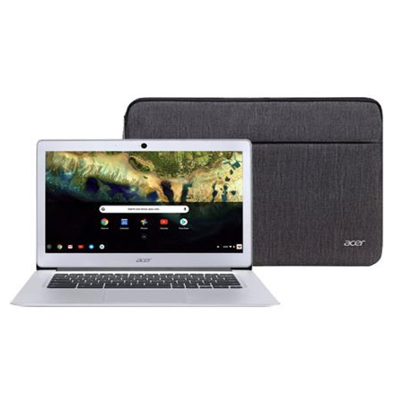 "Acer Chromebook 14, Intel Atom x5-E8000 Quad-Core Processor, 14"" HD, 4GB LPDDR3, 32GB eMMC, Protective Sleeve, CB3-431-12K1"