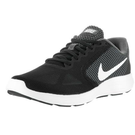 Women's Nike Revolution 3 Running Shoe Dark Grey/White-Black 819303 001