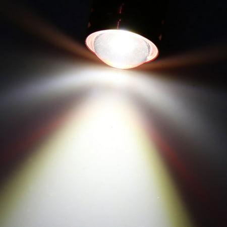 2Pcs T20 7440 7443 Warm White COB LED Projector Lens Car Brake Reverse Light - image 2 de 4