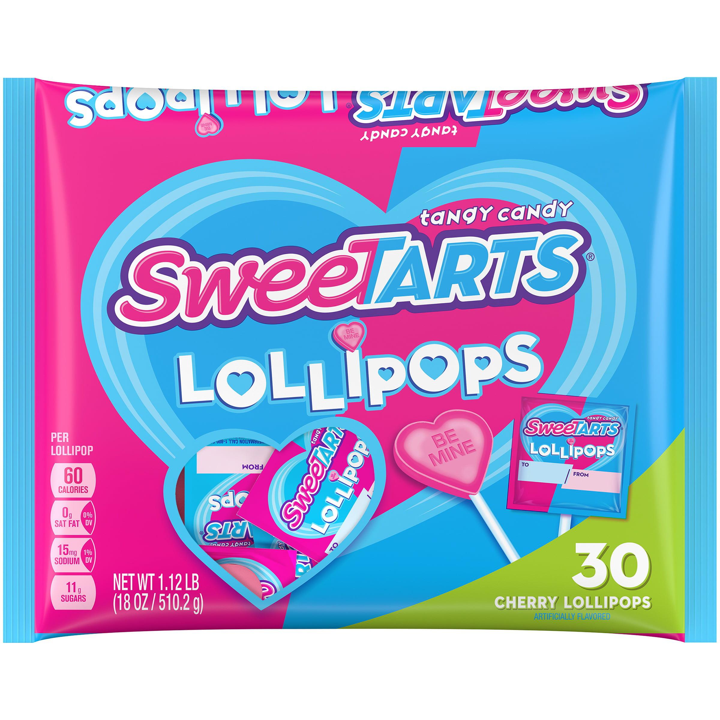 SWEETARTS Lollipops, 18 oz bag, 30 count - Walmart.com