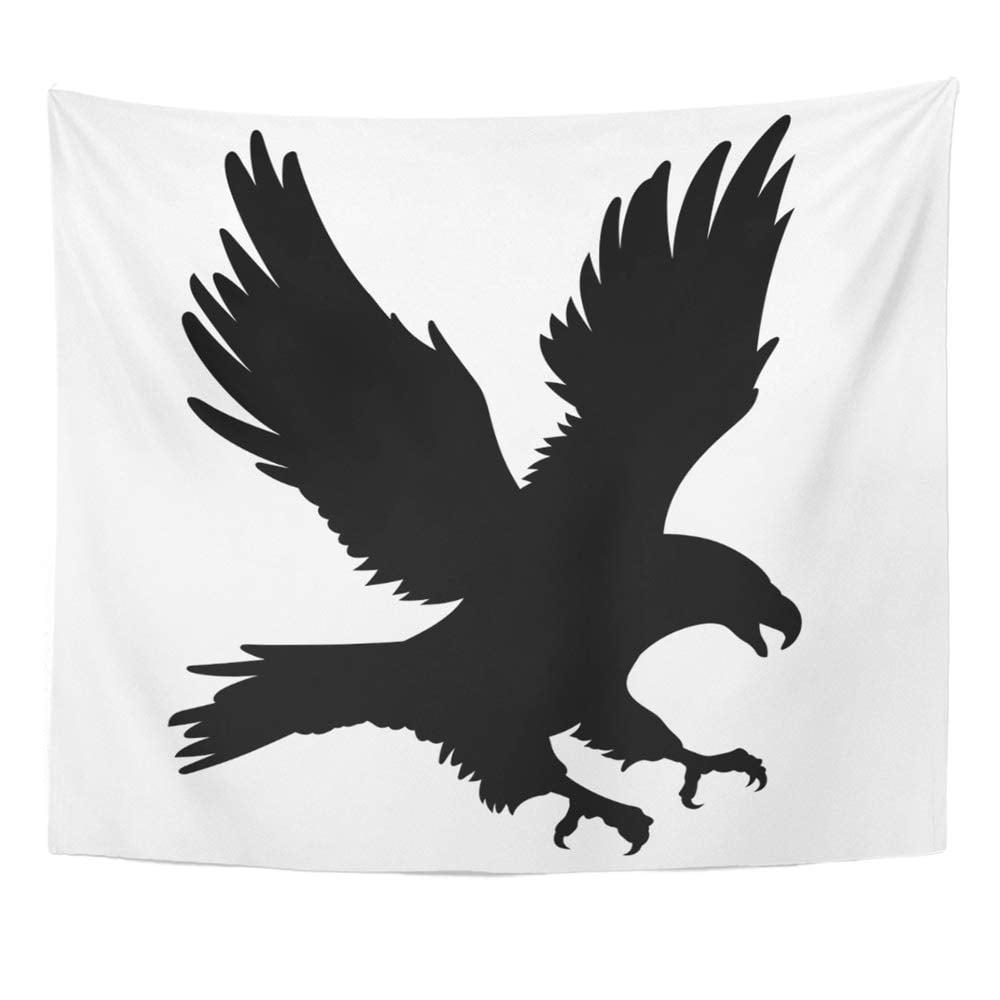 ZEALGNED Hawk Bald Eagle Silhouette White American Bird ...