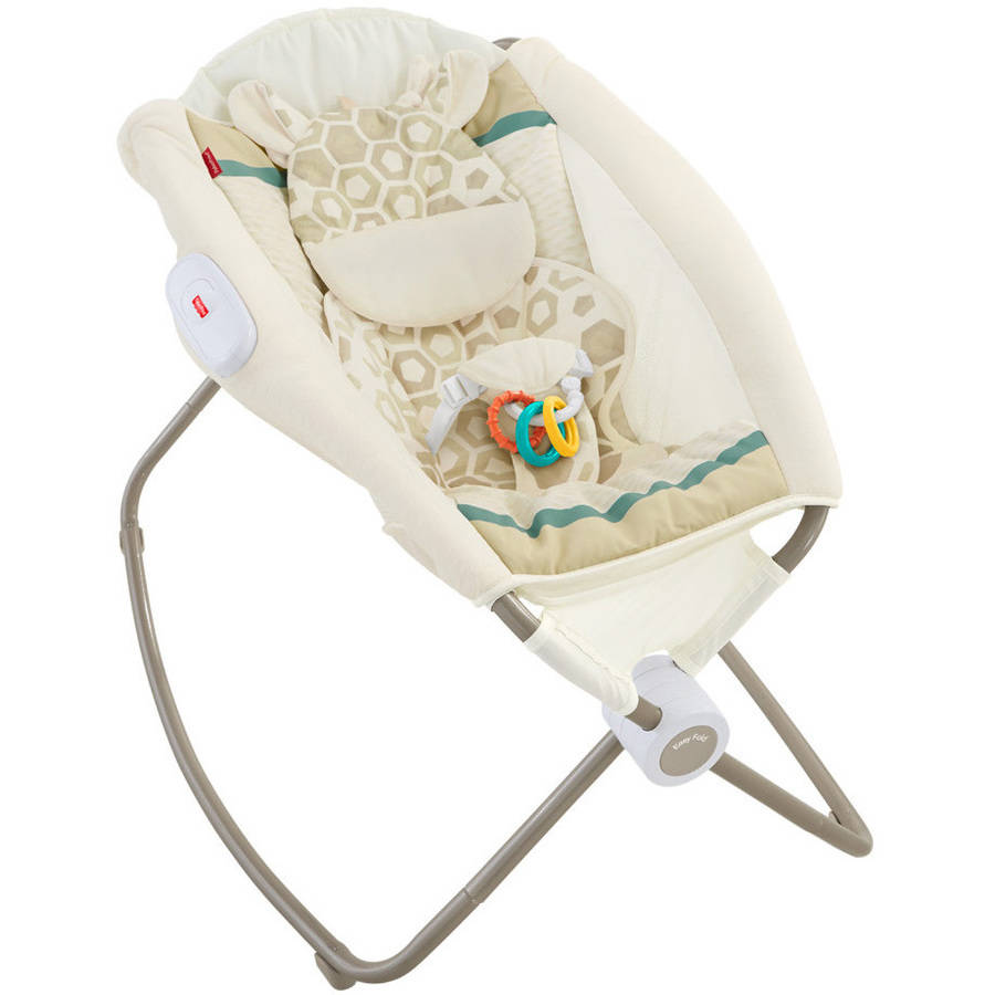 Fisher Price Deluxe Newborn Rock 'N Play Sleeper, Soothing Savanna