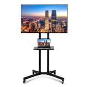 "Winado Floor TV Stand Mount Mobile Cart with Shelf for 32"" - 70"" TVs Screen"