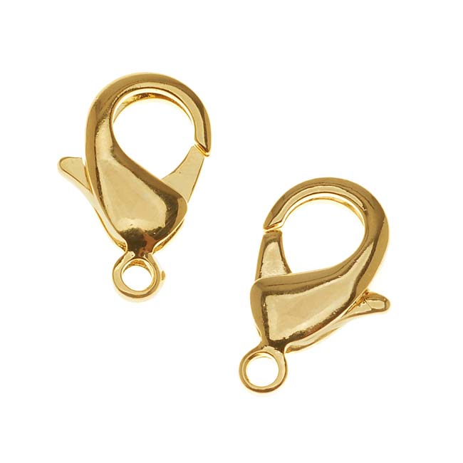 Bright Gold Plated Lobster Clasps Extra Large 23mm (2)