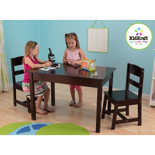 KidKraft Rectangle Table and Chairs Set, Espresso