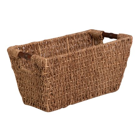 May Day Baskets (Honey Can Do Medium Seagrass Basket with Handles and Iron Frame,)