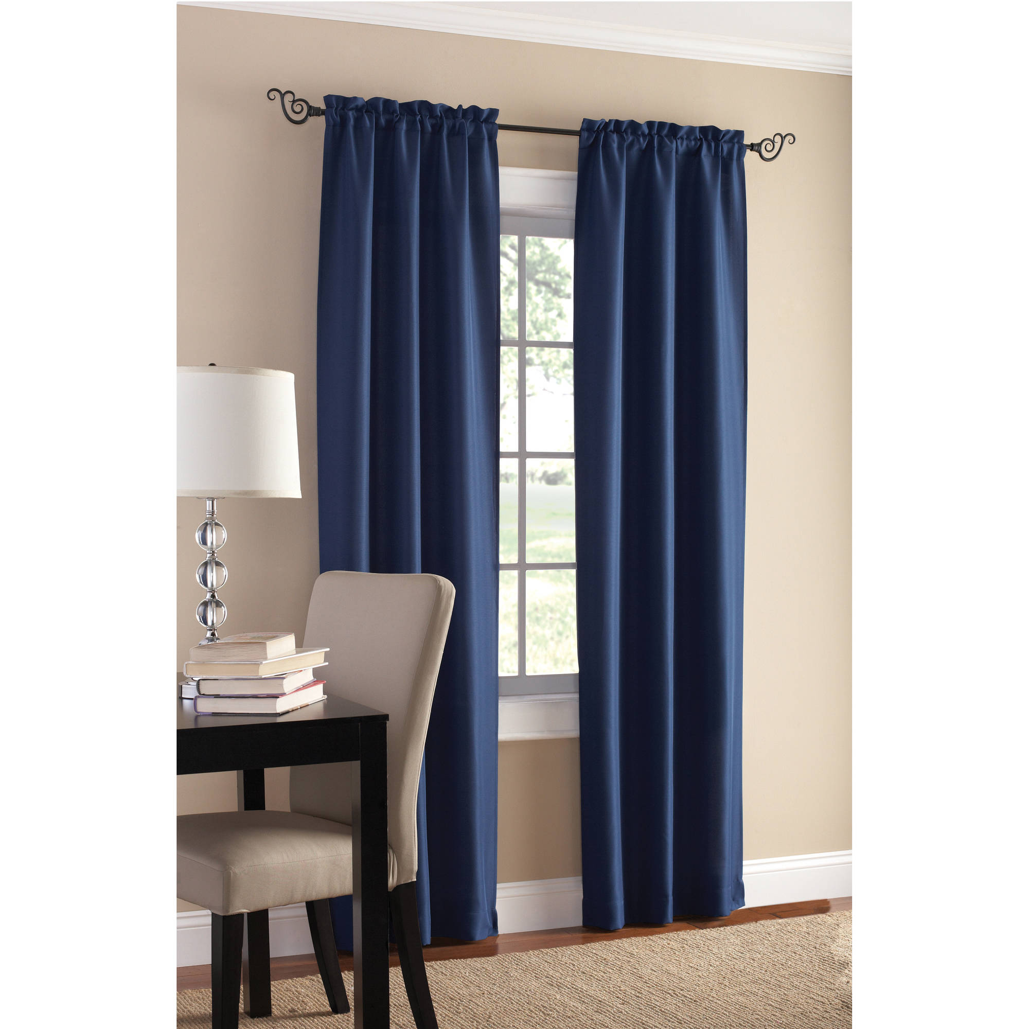 Walmart Curtains For Living Room Brilliant Mainstays Sailcloth Curtain Panel Set Of 2  Walmart Review