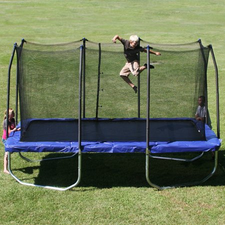 Skywalker Trampolines 15' Rectangle Trampoline and Enclosure - Blue