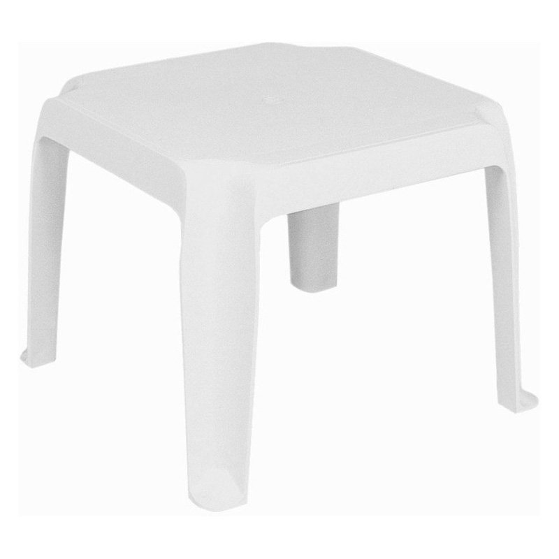 Compamia ISP240-WHI Sunray Resin Square Side Table White Set of 2 by Compamia