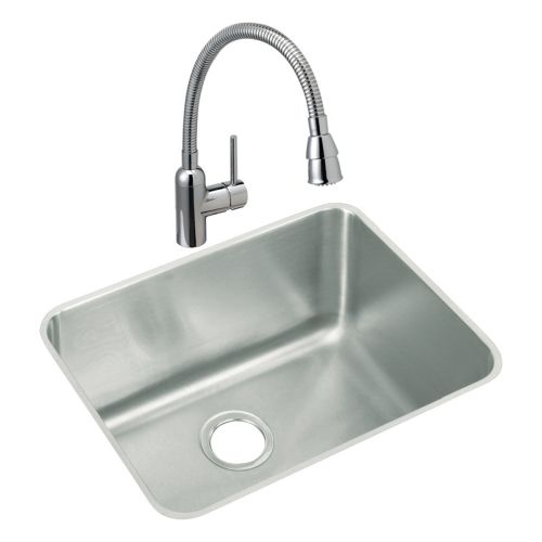 "Elkay ELUH211512C Lustertone 23-1 2"" Laundry Sink with 1.5 GPM Single Hole Fauce by Elkay"