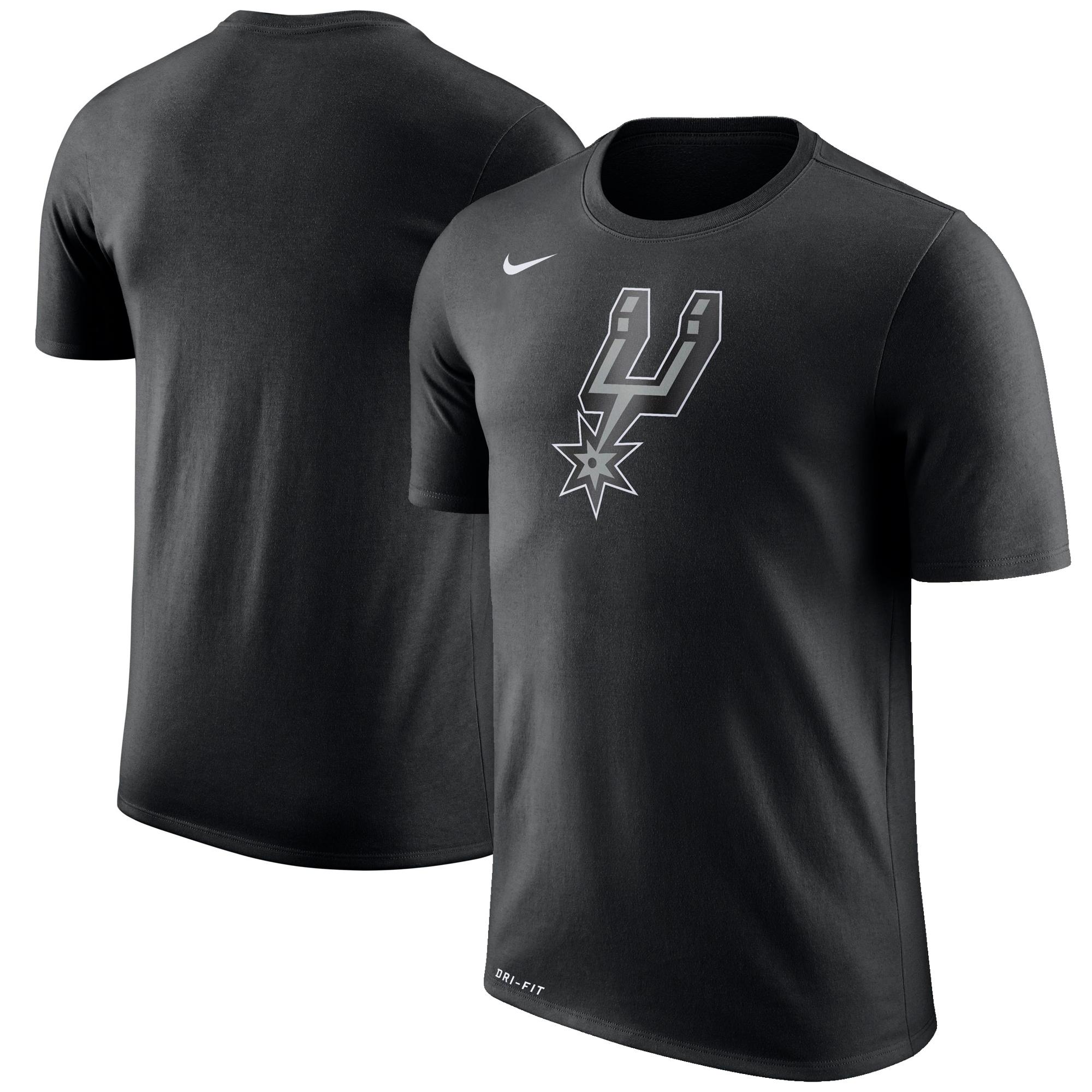 San Antonio Spurs Nike Logo T-Shirt - Black - S