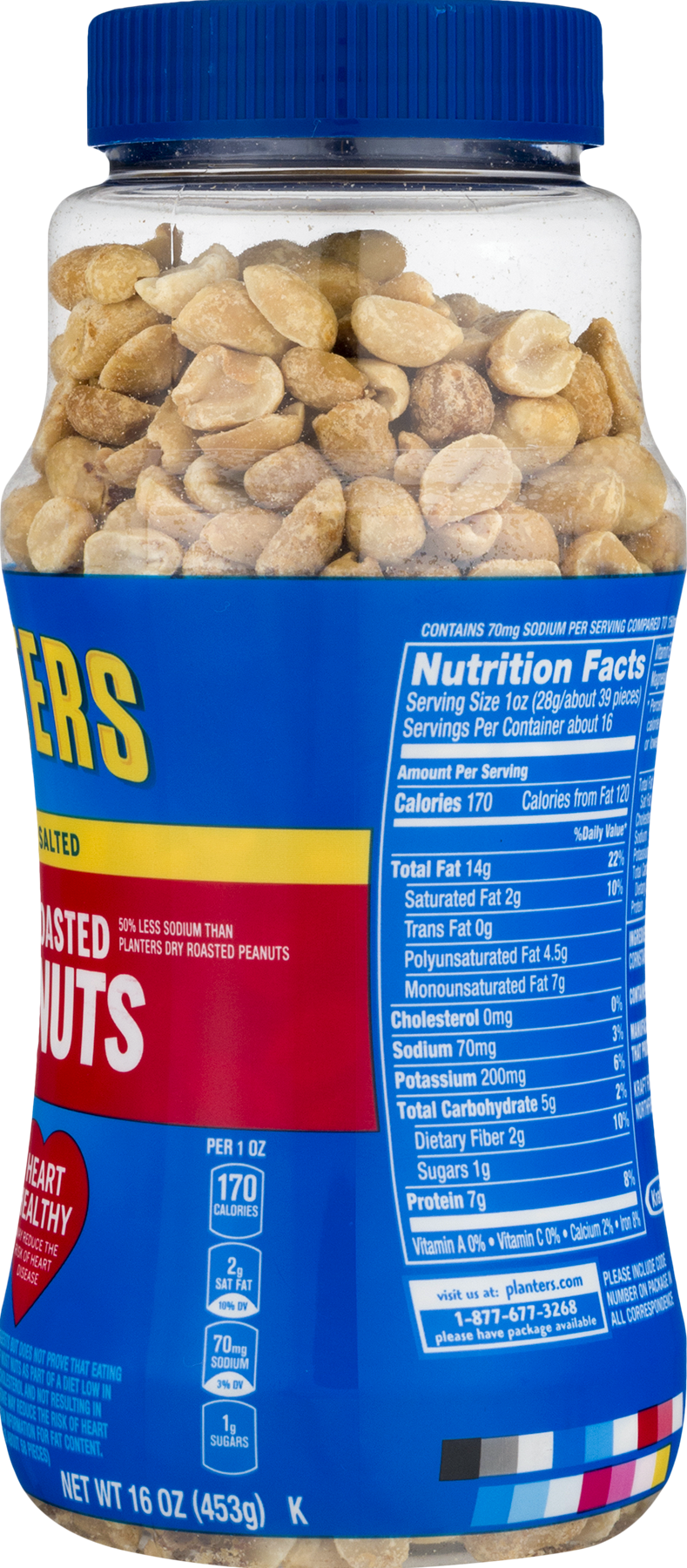 Cashews Planters cashew nuts have grams of protein in every delicious ounce. Whether you prefer your cashews salted or you like your cashews lightly salted, Planters has a cashew snack for you.