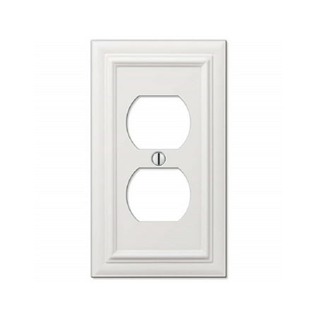 Continental Cast Metal Outlet Cover, White Dri Lex Lining