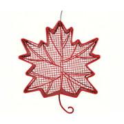 PineBush PINE10071 Red Leaf Shaped Feeder