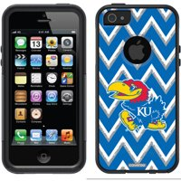 University of Kansas Sketchy Chevron Design on OtterBox Commuter Series Case for Apple iPhone 5/5s
