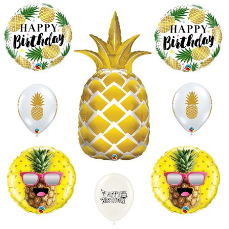 Pineapple Birthday Party 8 piece Balloon - Pineapple Party