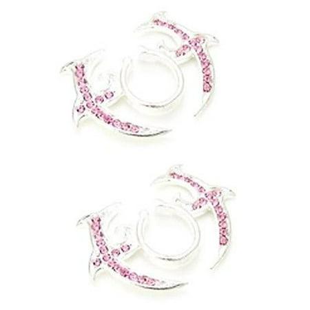 Nipple Rings non pierce pair Non-Piercing Clip On Nipple Ring Tribal Floral Pair