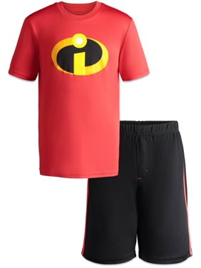 Disney Pixar Incredibles Toddler Boys Athletic T-Shirt & Mesh Shorts Clothing Set 2T