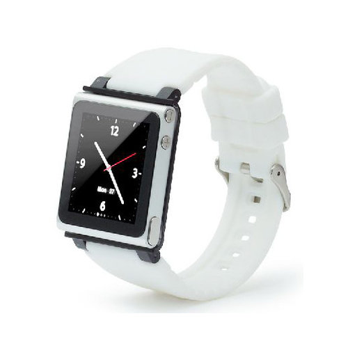iWatchz Q Collection Wrist Strap for iPod Nano 6G in White