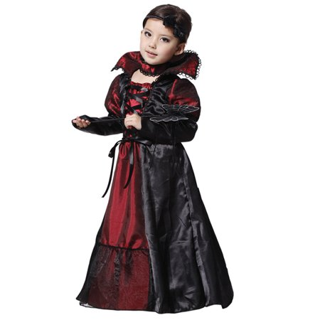 Halloween Costume Vampire Girl's Princess Fancy Party Witch Cosplay Fancy Dress