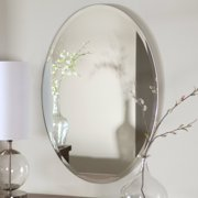 Dcor Wonderland Hiltonia Oval Bevel Frameless Wall Mirror