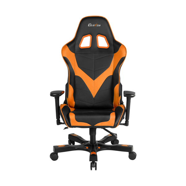 Clutch Chairz Premium Gaming/Computer chair, Black & Orange, 1-pack