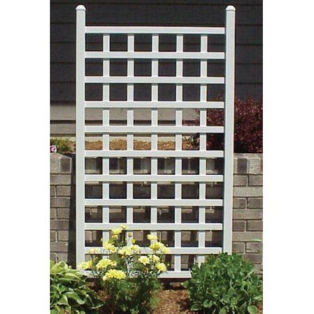 Dura-Trel Country 5' Vinyl Wall Trellis - White ()