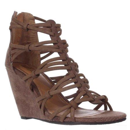 ec9ef0069d6 Mia - Womens Dylon Open Toe Casual Strappy Sandals - Walmart.com
