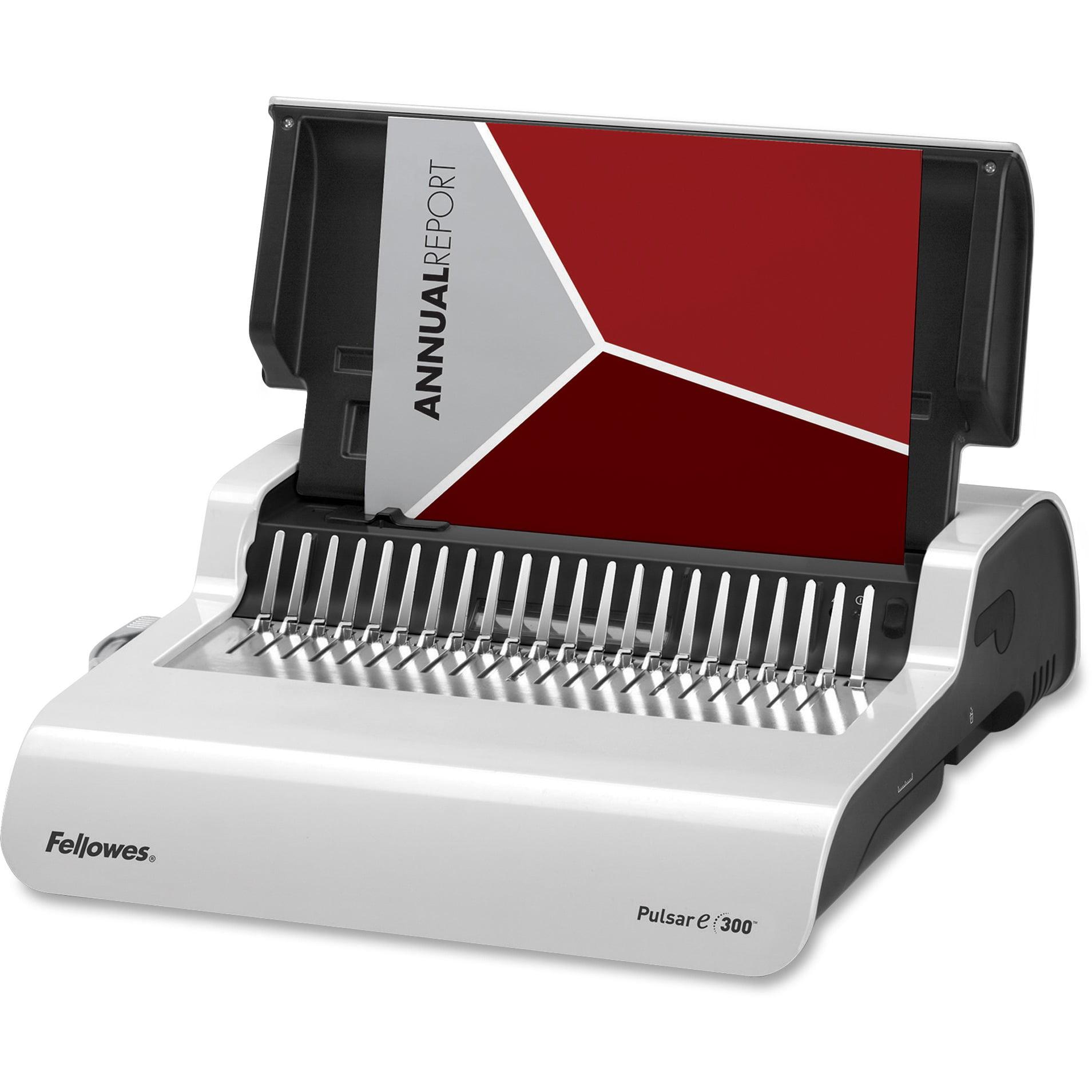 Fellowes, FEL5216701, Pulsar E300 Comb Electric Binding Machine, 1 Each, White,Black
