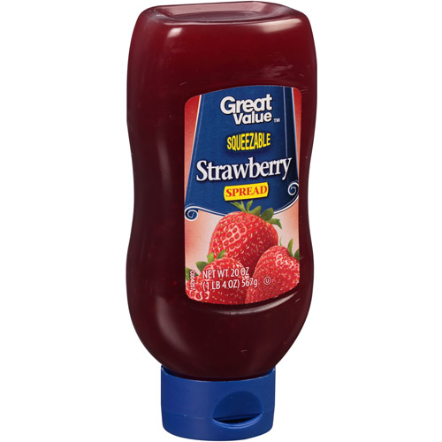 Great Value: Squeezable Strawberry Fruit Spread, 20 Oz
