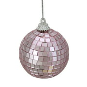 "Northlight 9ct Mirrored Glass Disco Ball Christmas Ornament Set 2.5"" - Bubblegum Pink"