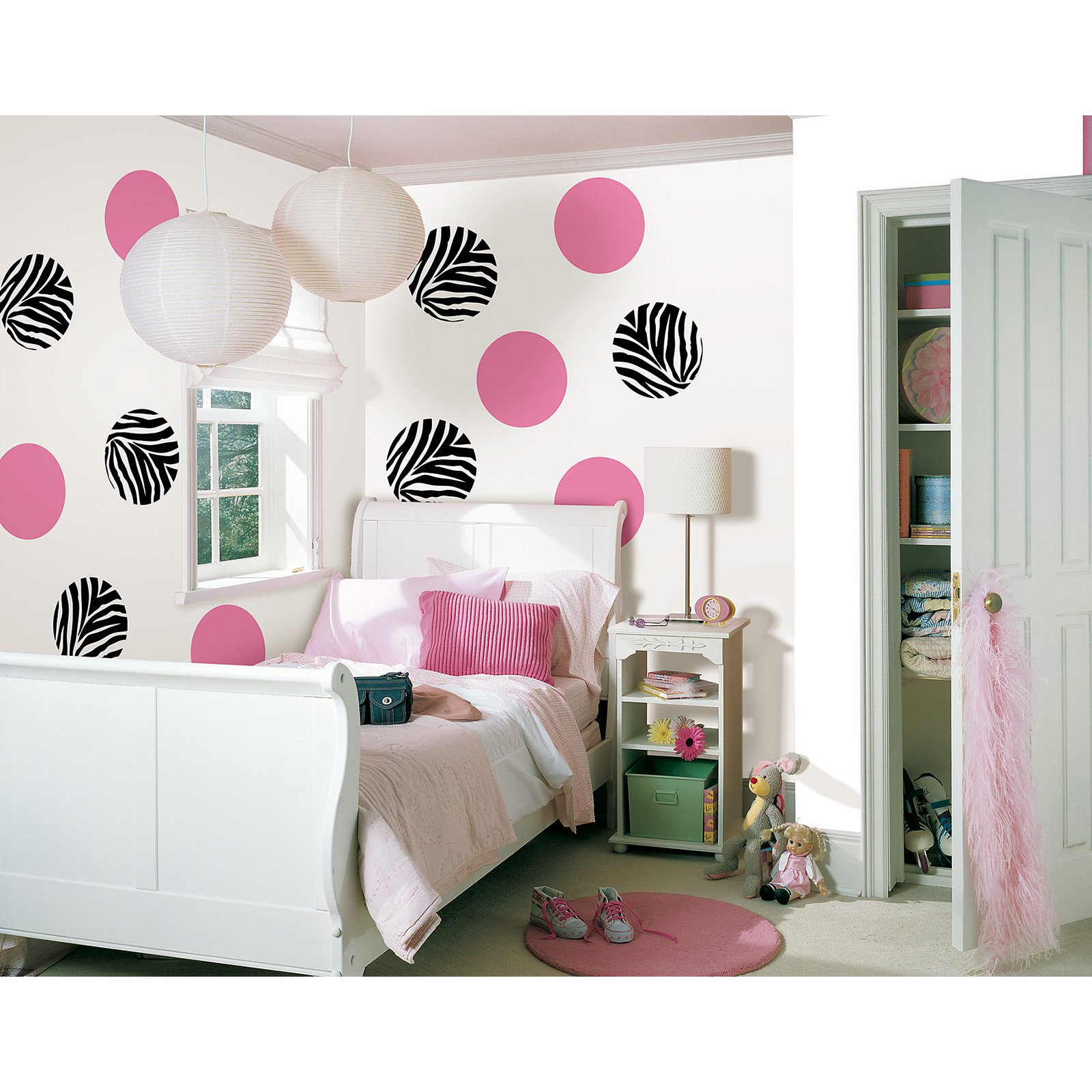 WallPops Go Wild and Flirt Pink Dots Decal - Set of 18