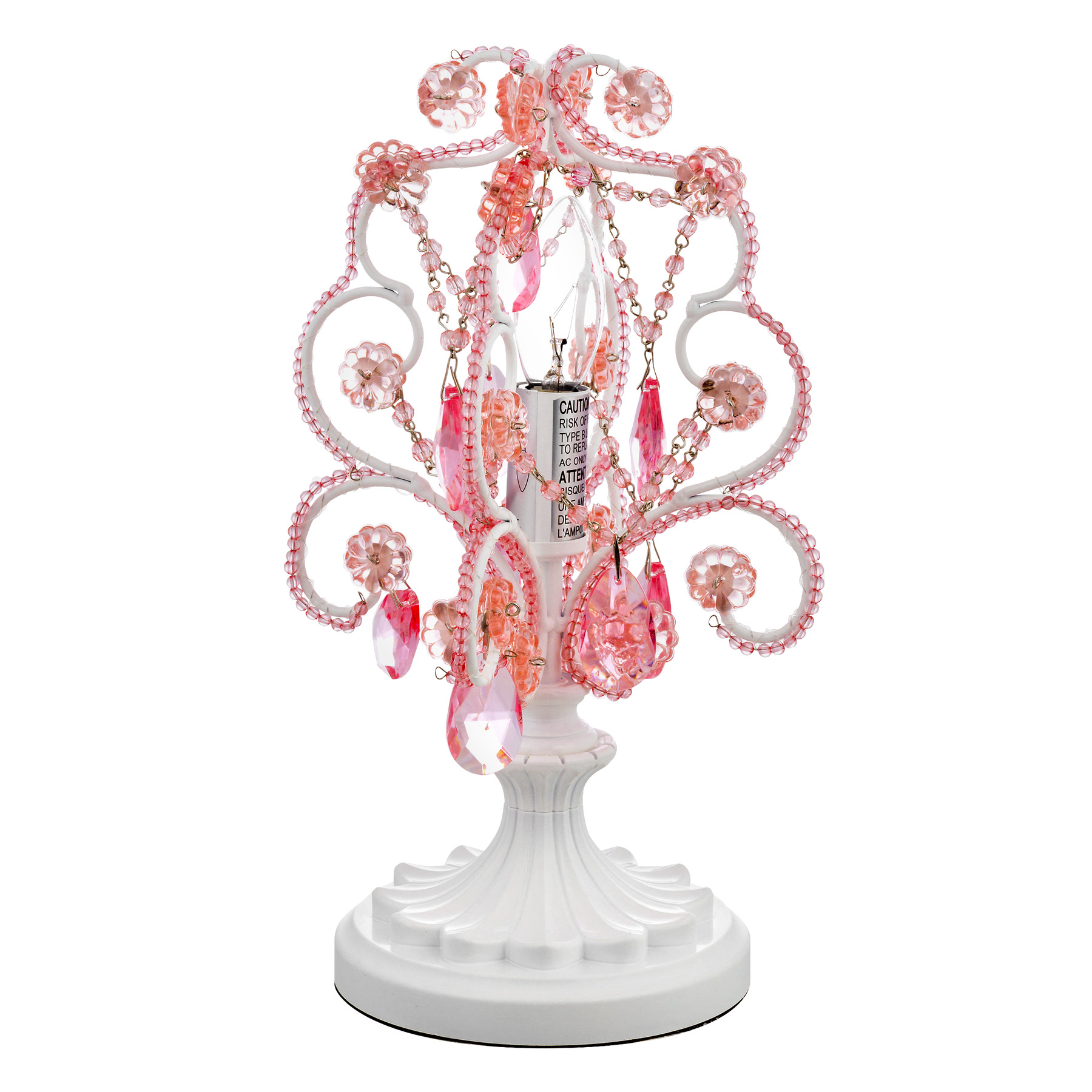 Tadpoles Chandelier Mini Table Lamp Pink, 1.0 CT