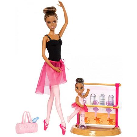 8b6e116f1e2 Barbie Ballet Instructor Playset and Nikki Doll - Walmart.com