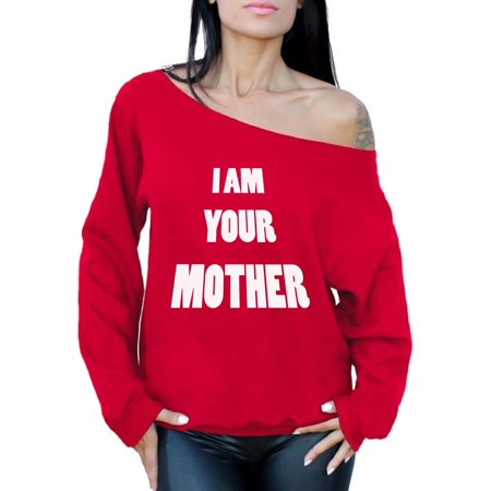 Awkward Styles Women's I Am Your Mother Graphic Off Shoulder Tops Oversized Sweatshirt Mothers Day Gift