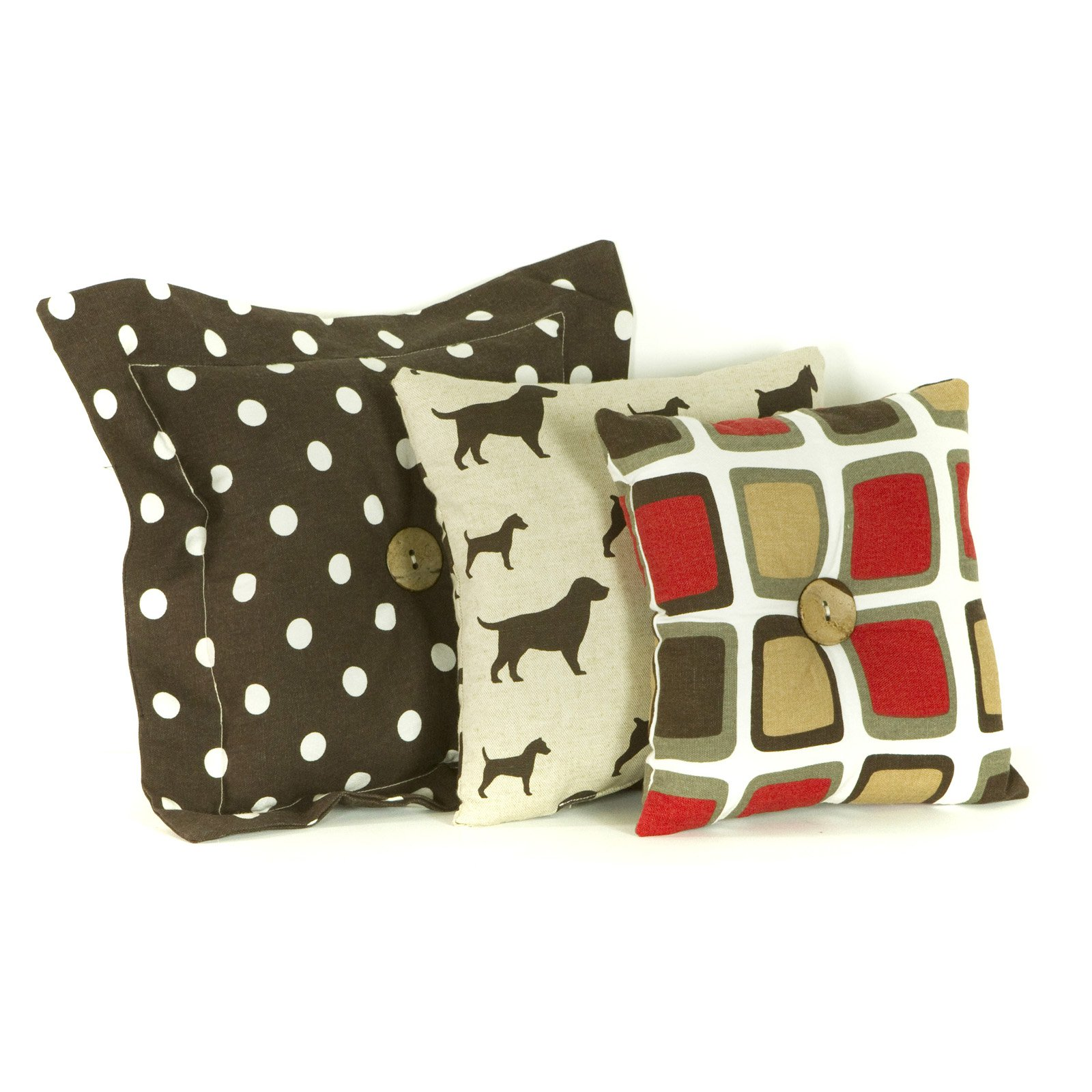 Cotton Tale Designs Houndstooth 3 Piece Decorative Pillow