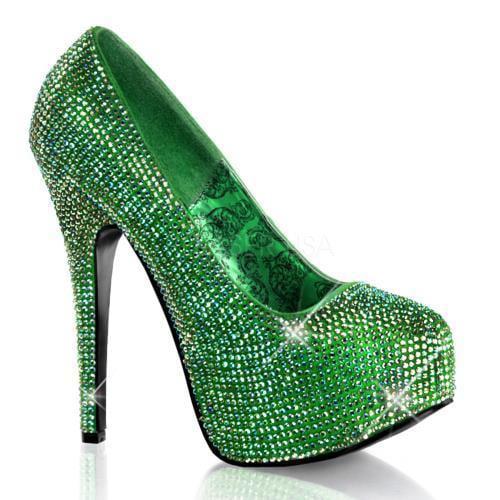 Bordello RS Shoes Teeze Green Satin-Irid RS Bordello Size: 10 e3884d