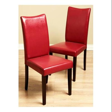 Super Shino Bi Cast Leather Dining Chairs In Red Set Of 2 Machost Co Dining Chair Design Ideas Machostcouk