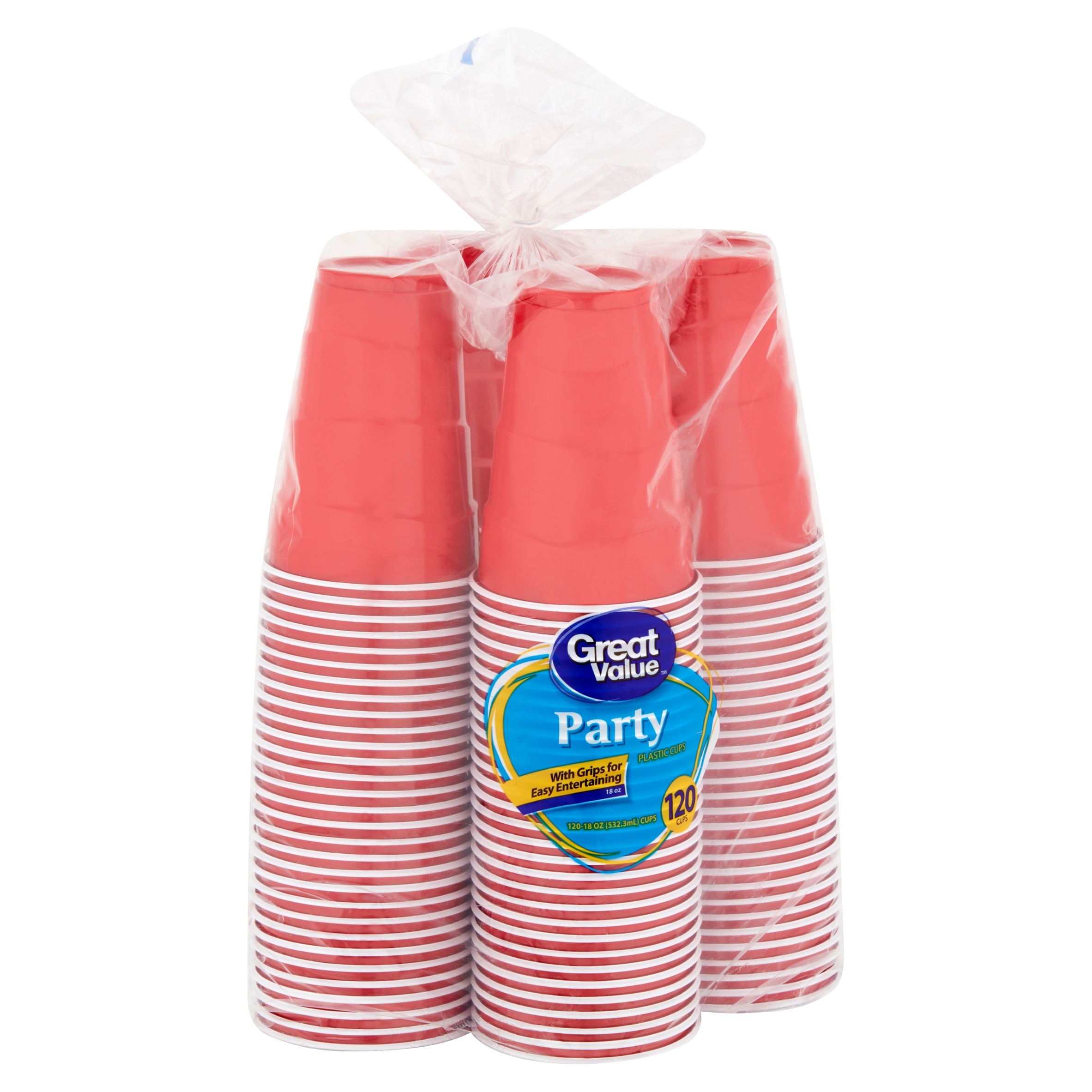 (2 pack) Great Value 18 oz Party Plastic Cups, 240 count