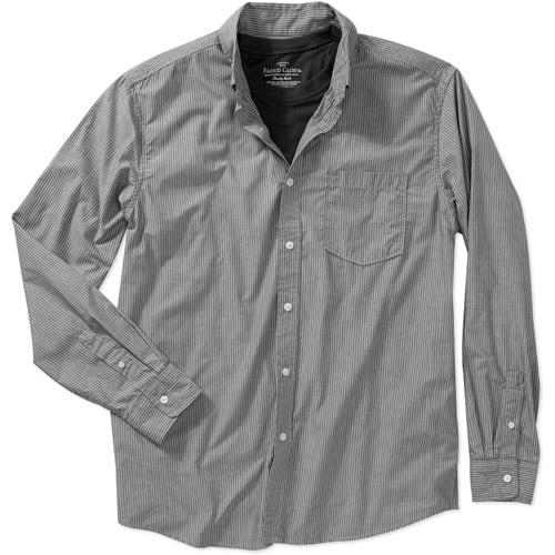 Faded Glory Men's Long Sleeve 2fer Poplin Shirt