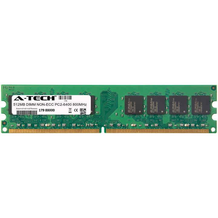 512MB Module PC2-6400 800MHz NON-ECC DDR2 DIMM Desktop 240-pin Memory Ram