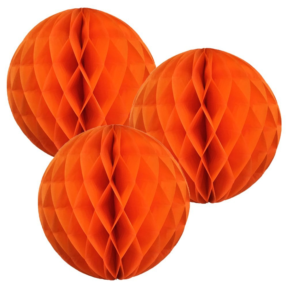 Just Artifacts Tissue Paper Honeycomb Ball Click for More Colors /& Sizes! Set of 3, 8inch, Banana Yellow