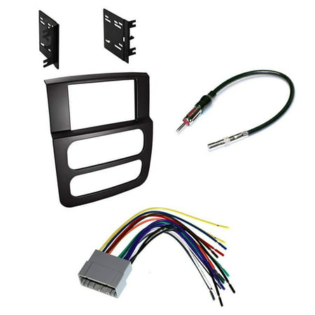 Double DIN Car Stereo Dash Kit Harness Antenna for 2002-2005 Dodge Ram