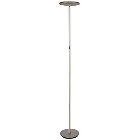 Brightech Sky 30 Flux LED Torchiere Floor Lamp – Energy Saving, Dimmable & Adjustable Color Temperature- Modern Tall Standing Pole Uplight Lamp Light -Living Room, Dorm, Bedroom & Office – (Energy Saving Torchiere Floor Lamp)
