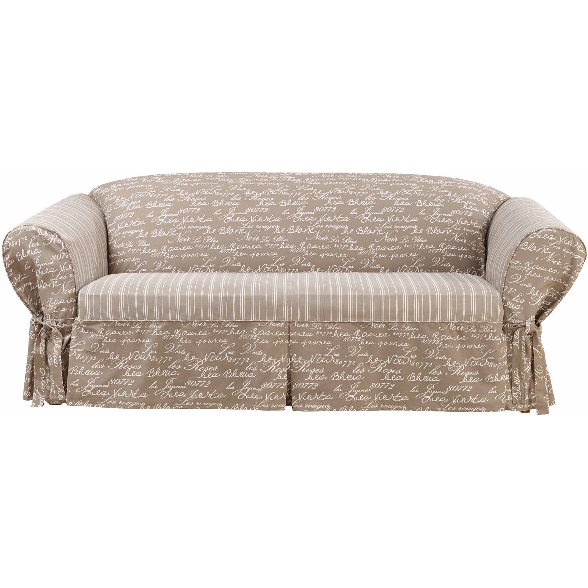 Sure Fit 6 oz Cottin Twill 2 Piece Separate Seat Sofa Slipcover