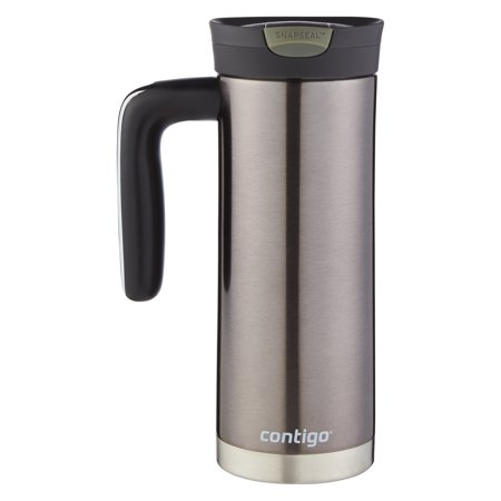 Contigo Stainless Steel 20 Ounce Snapseal Vacuum Insulated Travel Mug Gunmetal