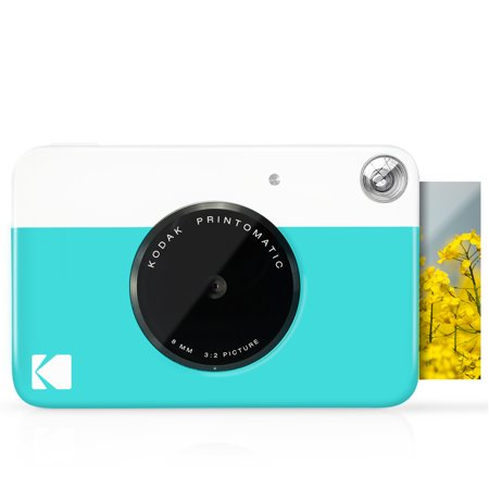 Kodak PRINTOMATIC Digital Instant Print Camera - Blue (RODOMATICBL)
